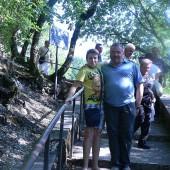 Il giovane Fausto col papà