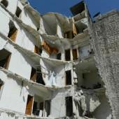 La città di Aleppo martoriata dai bombardamenti.