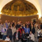 06. pellegrini a Roccaporena il 5 e 6 aprile 2014 - gruppo di Verona nella Chiesa di S.Montano