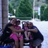 Giorgia con la sua famiglia