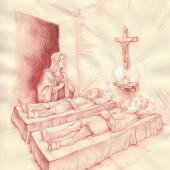 Santa Rita piange la morte dei figli