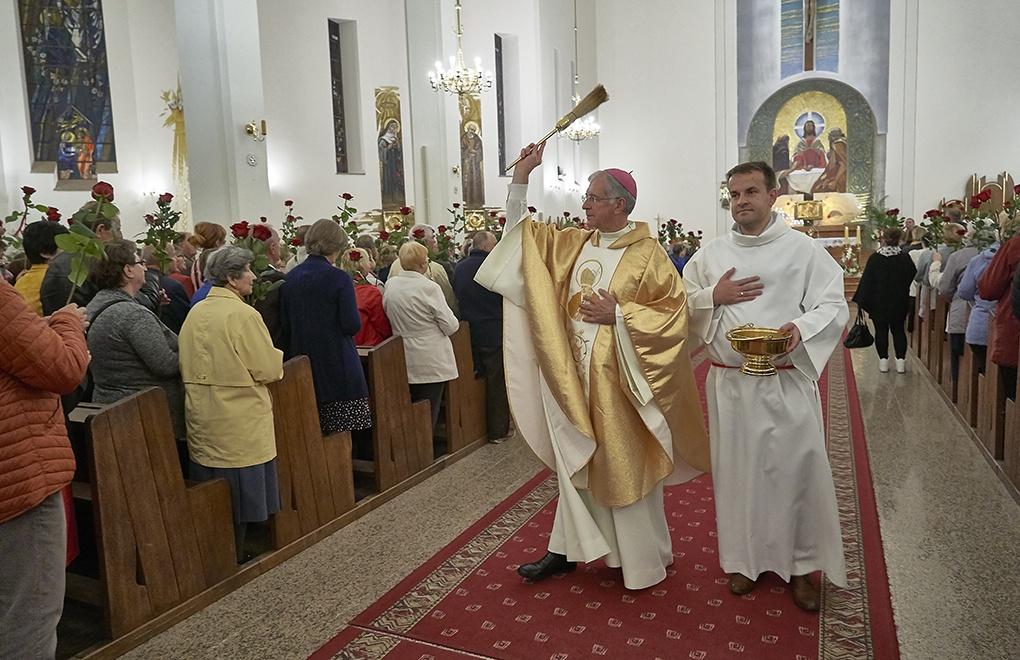 Sciedlce, Polonia, Messa in onore di Santa Rita